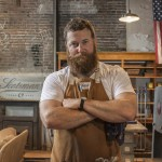 Ben Napier of HGTV's Home Town at the Scotsman Co. workshop in Downtown Laurel, MS