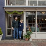 Ben & Erin Napier of HGTV's Home Town at Cafe La Fleur in Laurel, MS
