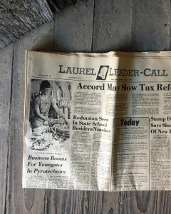 Historic Laurel Leader Call